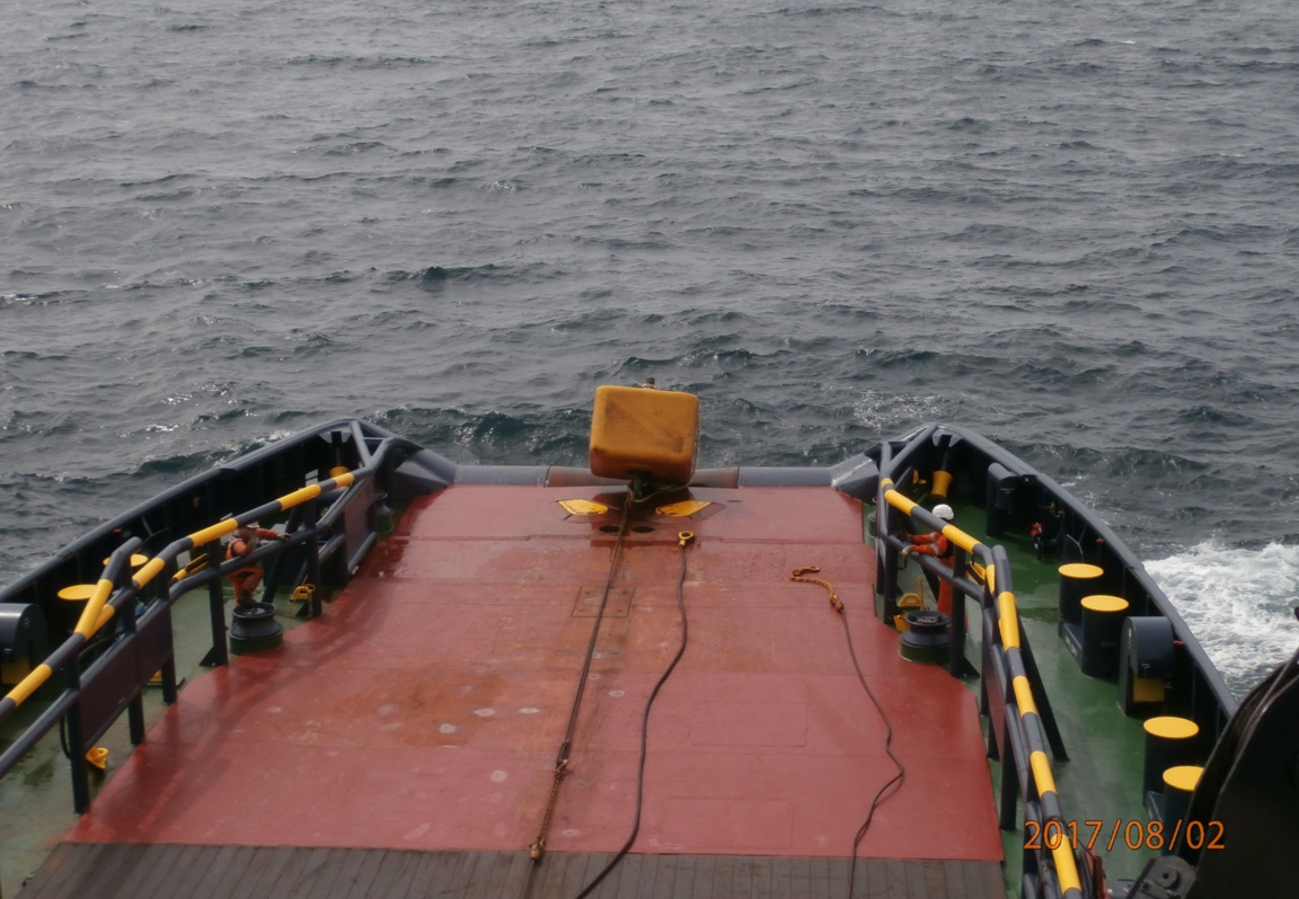 Alp Ace Seafox 4 2Anchor Buoy Is Pulled On Deck