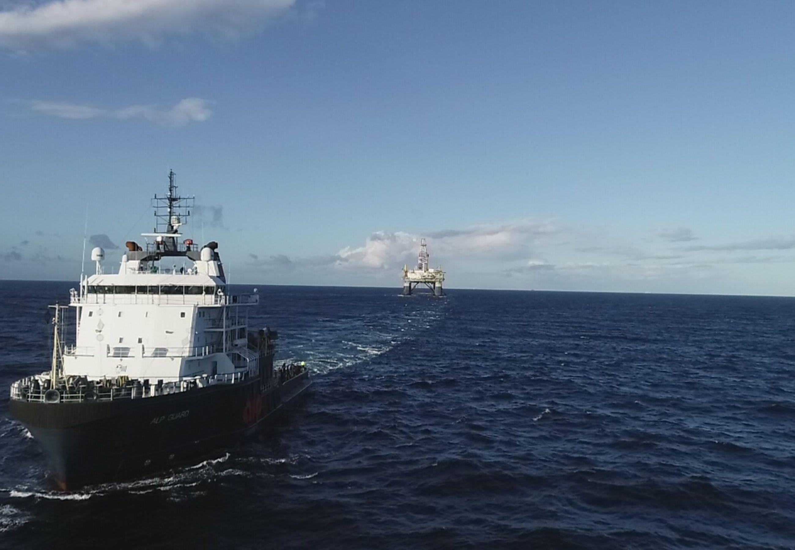ALP Guard towing SSDR Ocean Confidence3