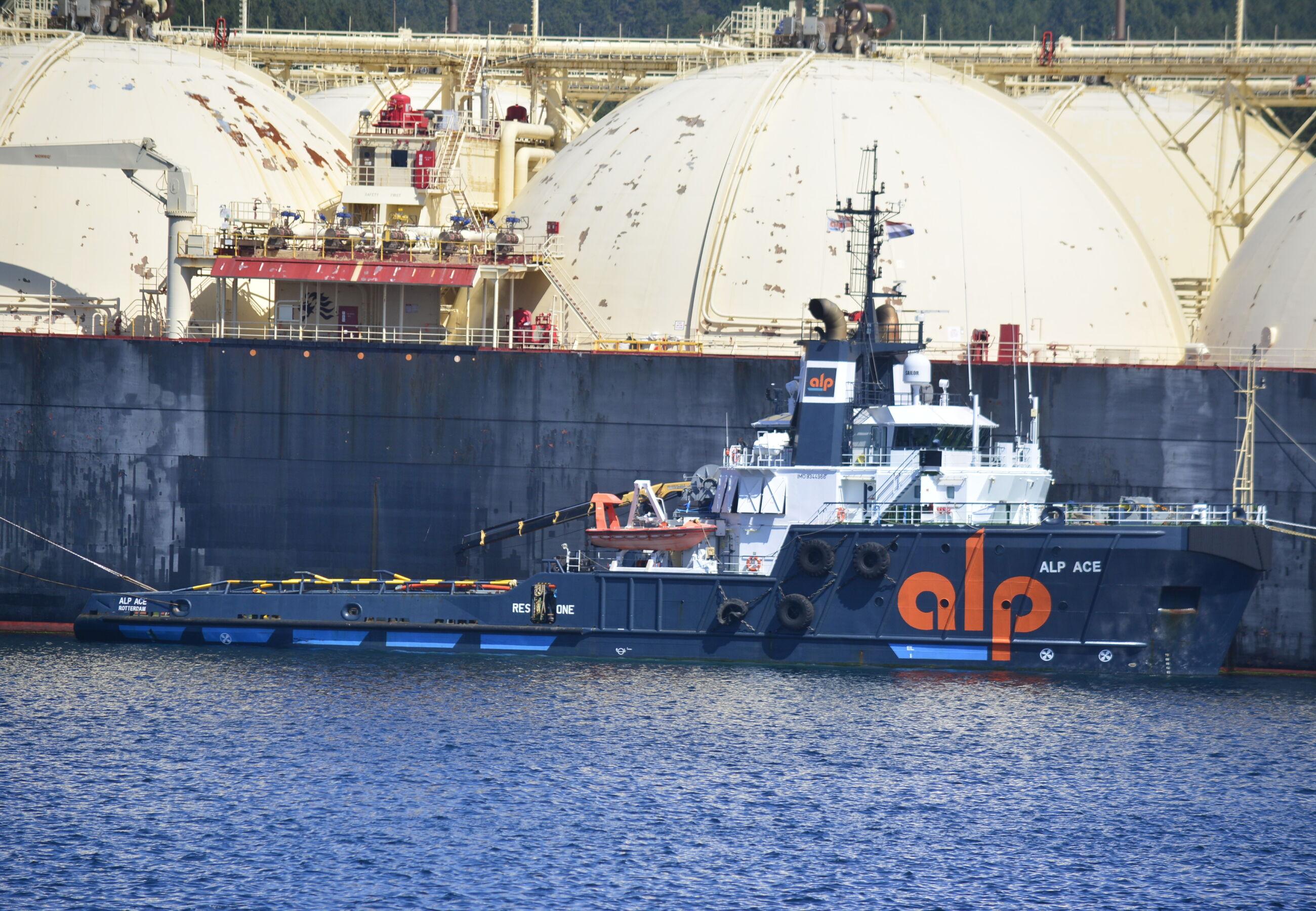ALP Ace towing Bering Energy Norway Ferrol JUN2020 4
