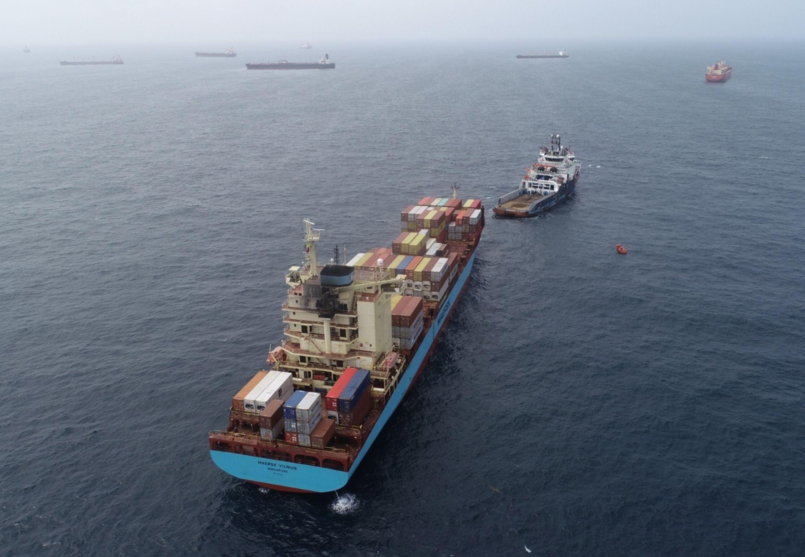 ALP Defender Maersk Vilnius During Reconnecting Anchor