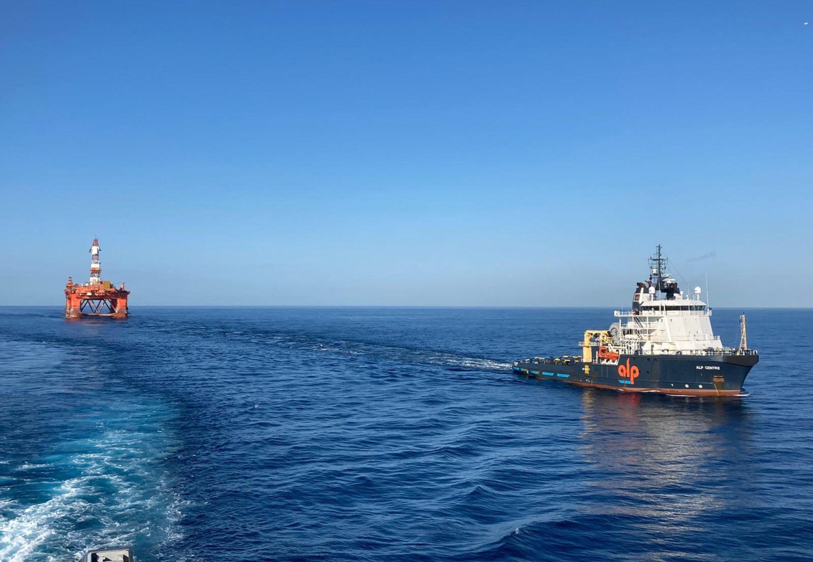 ALP Centre towing Transocean Arctic Oct2020