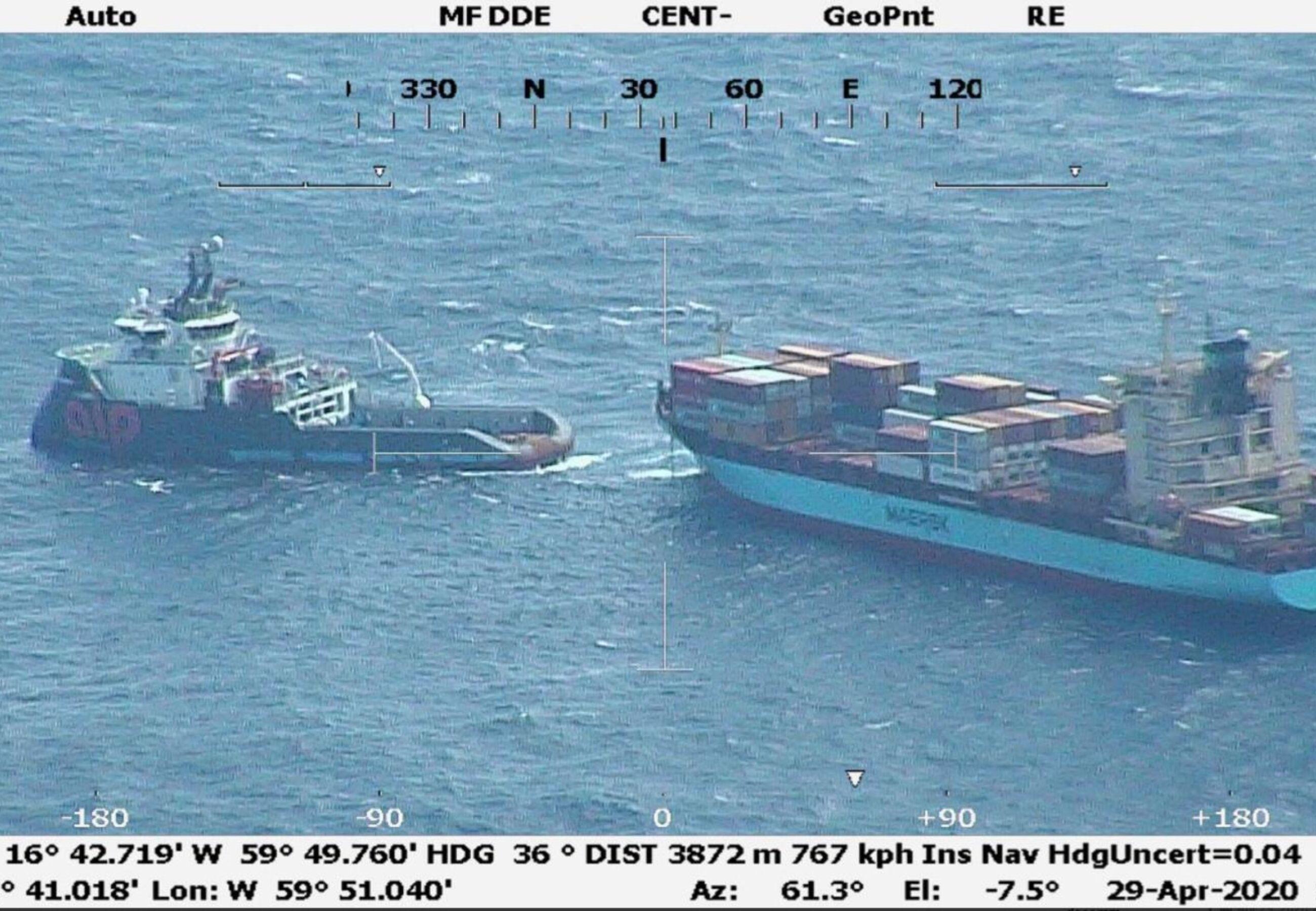 ALP Defneder Maersk Vilnius Coast guard spotted