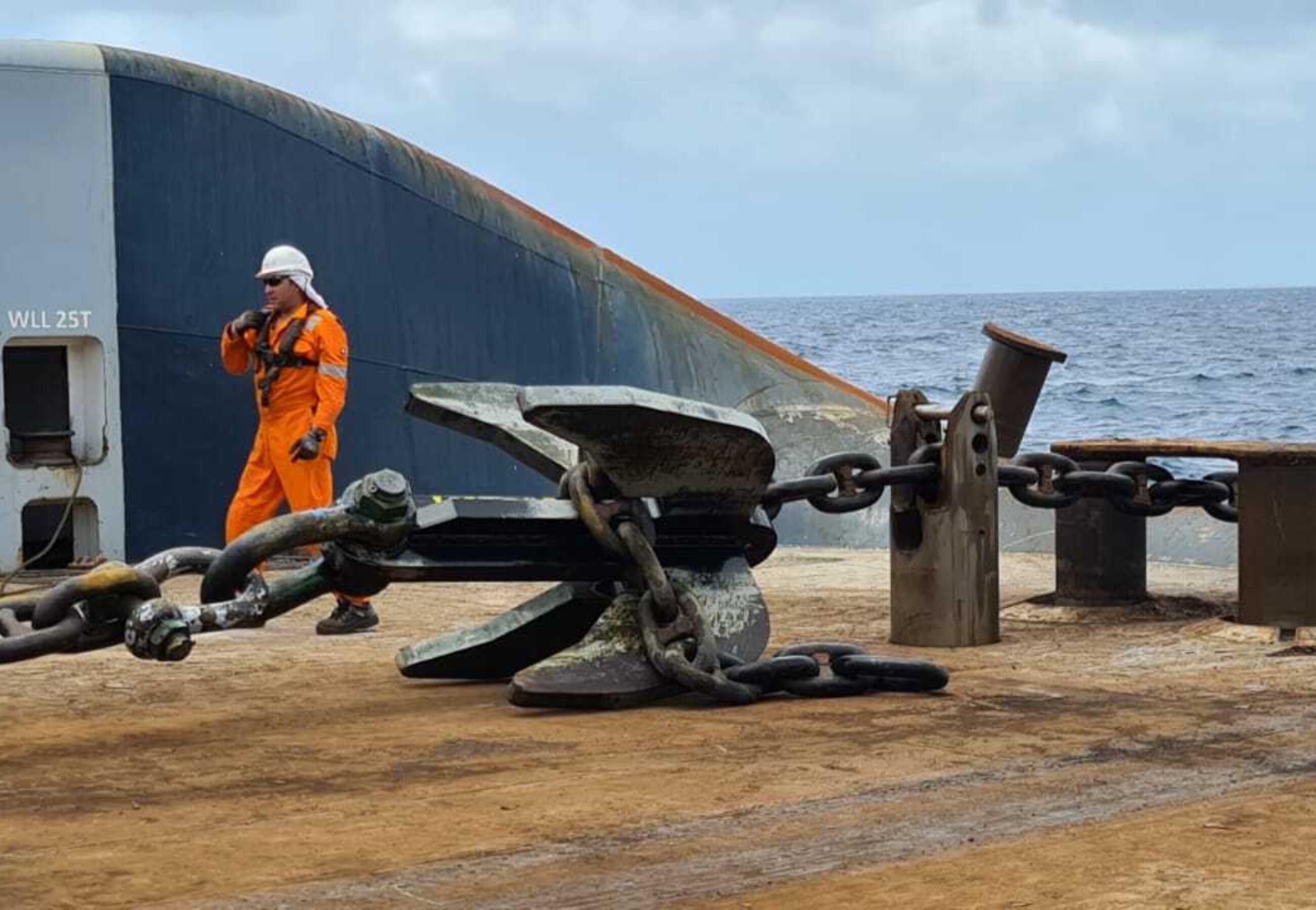 ALP Striker anchor handling Aruba