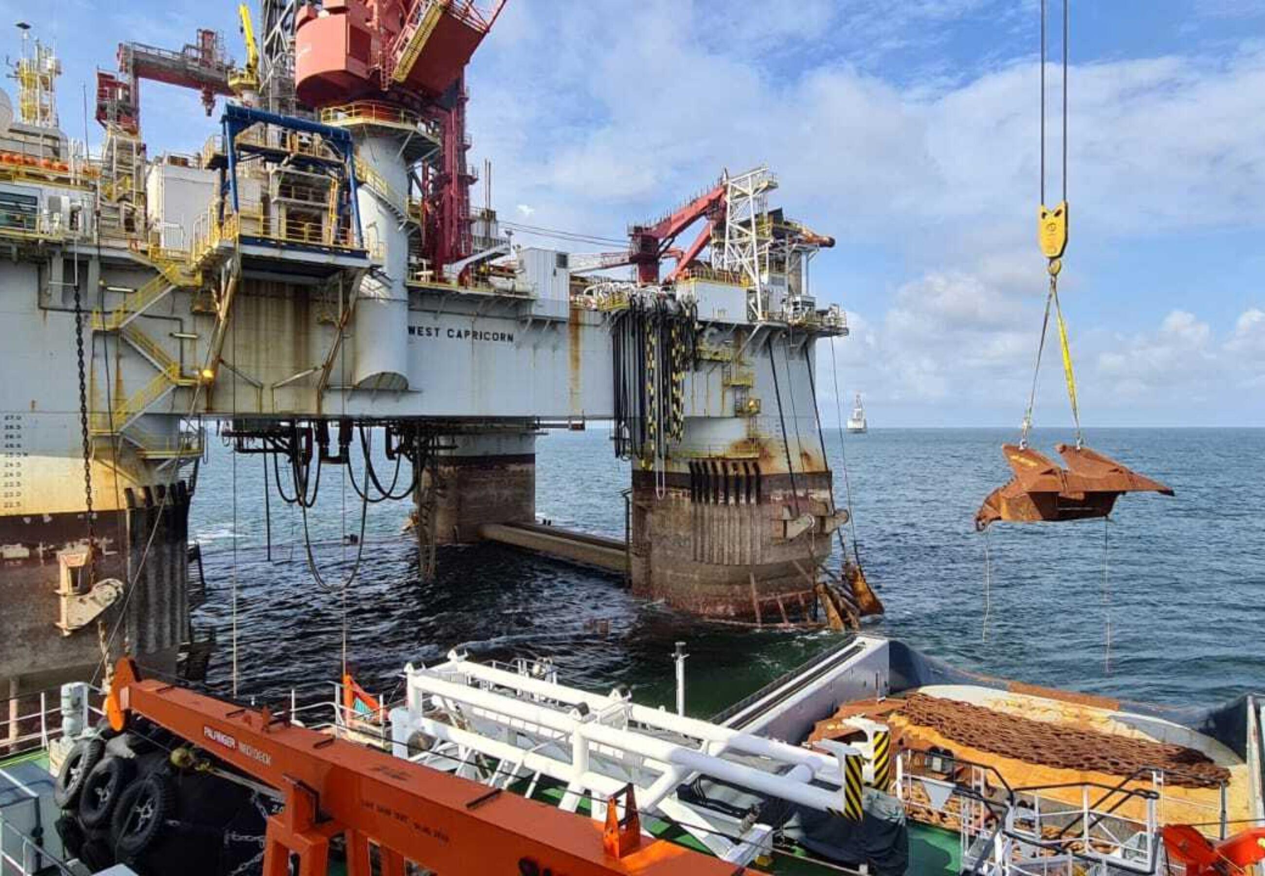 CS Striker Capricorn project offloading anchors